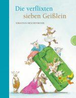 Cover: Sebastian Meschenmoser, Die verflixten sieben Geißlein